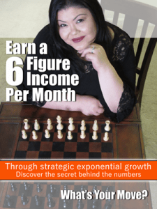 Earn a 6 figure income per month through strategic exponential growth