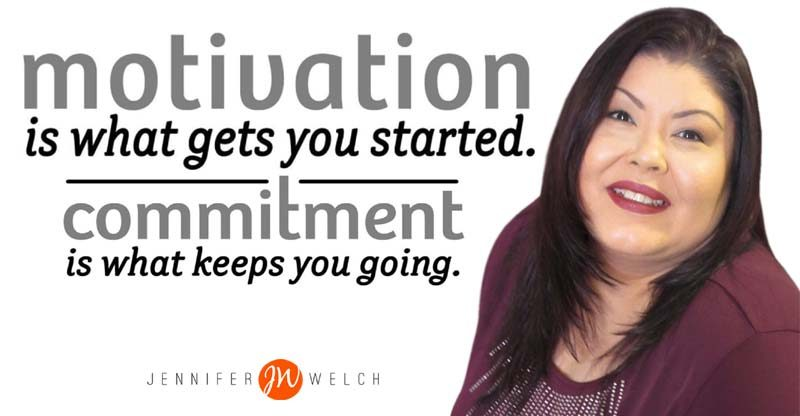 motivation gets you started, commitment keeps you goi`ng.
