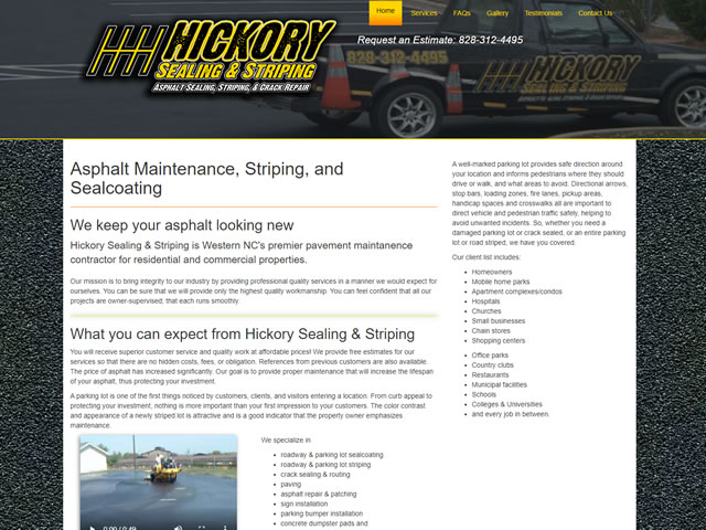 Hickory Sealing and Striping